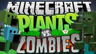 Minecraft   PLANTS vs ZOMBIES! (Pea Shooters Galore!)   Mod Showcase [1.6.2]