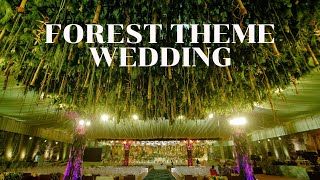Forest Themed Wedding Reception  By Vivahhika