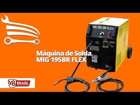 Máquina de Solda Mig 195A  Monofásico MIG 195BR FLEX - Video