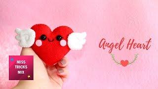 Cute Angel Heart Felt DIY Tutorial | #5 Valentine Kawaii.