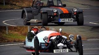 Morgan Three Wheeler and Caterham Seven: Brilliant British Flyweights - /CHRIS HARRIS ON CARS