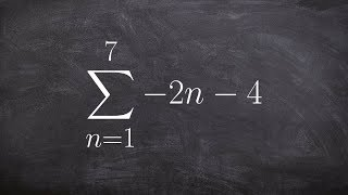 Learning to use summation notation for an arithmetic sequenceseries to find the sum