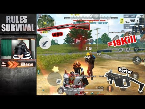 Fireteam with my friends 18 Kills!! Vector & WRO / Rules of Survival / Ep 252