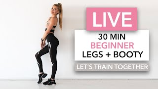 """LIVE WORKOUT - Wednesday 10am (European Time)  Oh yes, a completely NEW workout, suitable for beginners ♥︎ Training legs & booty - no equipment needed!  I will explain all movements, making sure you can perform the exercises correctly. I also tested this workout with my mom, to get a better feeling for the """"questions"""" beginners might ask themselves during the workout :)  We will always do 40s of movement, 20s of rest... YES - we have rests :D   PS: you can also join as an Intermediate & skip the rests.   No Equipment necessary and not much space needed! If you don't have a yoga mat, grab a soft towel!   __  By the way: this is DAY 3, Week 4 of my free Home Workout Schedules (you can find them on my Instagram).   ▸ You can find free WORKOUT SCHEDULES on my Instagram Channel. I saved them in my highlights.  ➞ Instagram http://www.instagram.com/pamela_rf/"""