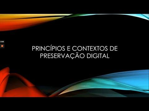 Minicurso: Princípios básicos da preservação digital - José Raymundo Campos