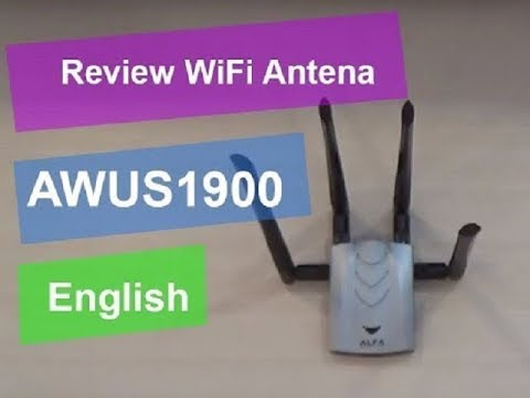 🔻🔻(English) 🔻Review ALFA Network AWUS1900 AC1900 🔻 WiFi USB Adapter 🔻 Long Range 🔻 USB Cable🔻