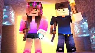MINECRAFT GIRLFRIEND - FIRST TIME FINDING DIAMONDS! (Minecraft Love Survival)