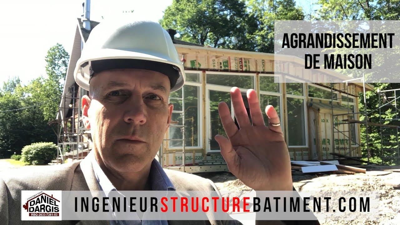 Inspection de structure finale d'agrandissement de maison par un ingenieur
