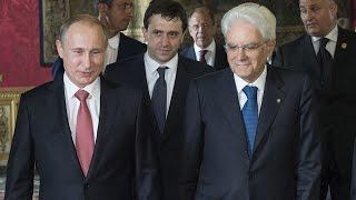 Incontro del Presidente Mattarella con il Presidente della Federazione Russa Putin