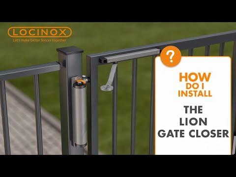 Vidéo d'installation ferme-portail Lion Locinox