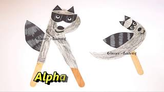 DIY Alphabet Puppet Crafts For Kids To Learn Phonics & Writing | Learn Through Play