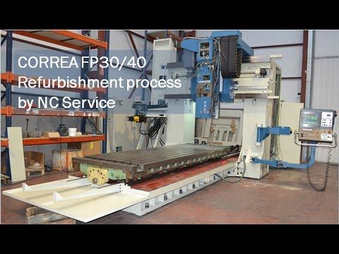 Brückenfräsmaschine CORREA FP30 40 Generalüberholung durch NC Service