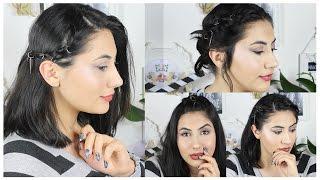 4 Çok Kolay Saç Modeli | Saç Küpesi ile
