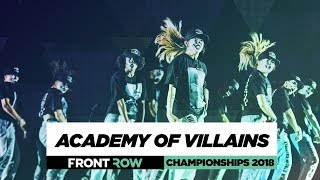 Academy of Villains | FrontRow | World of Dance Championships 2018 | #WODCHAMPS18