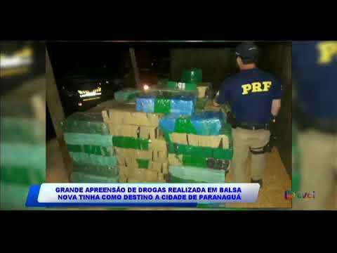 Grande apreensão de drogas realizada em Balsa Nova tinha como destino Paranaguá.