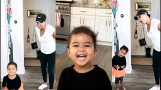 Tamera Mowry teaching her daughter Ariah how to sing and act   Plus more cute clips