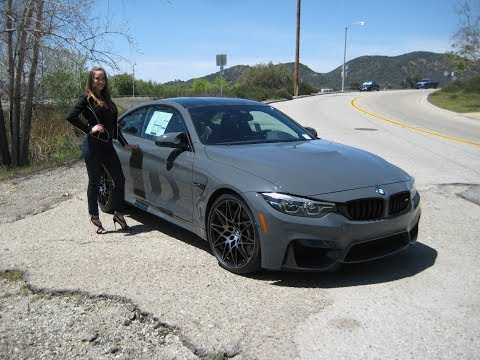 """BMW M4 Coupe in Grigio Telesto Pearl / Competition Package / 20"""" M Wheels / BMW Review"""