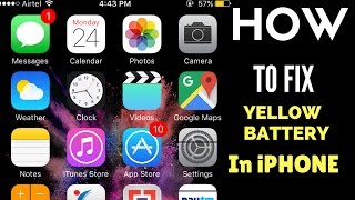 Apple iPhone Battery turned YELLOW | How to FIX it 2017??
