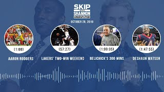 UNDISPUTED Audio Podcast (10.28.19) with Skip Bayless, Shannon Sharpe & Jenny Taft   UNDISPUTED