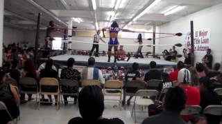 Twisted Sisterz vs Daniel Sanchise & Red Miracle 8.21.16 Por Promotions, Arizona