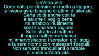F.Battiato  -  Un' Altra Vita (testo)
