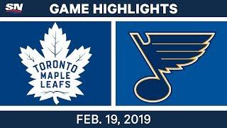 NHL Highlights | Maple Leafs vs. Blues - Feb 19, 2019