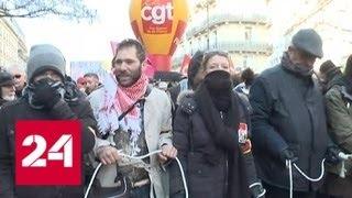 Новая волна манифестаций: полиция Франции готовится к худшему - Россия 24