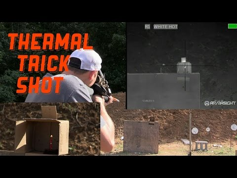 TRICK SHOT - PUTTING A CANDLE FLAME OUT WITH THERMAL IMAGING
