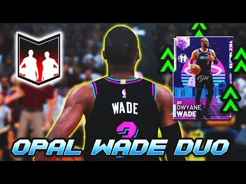 2k finally gave us a GALAXY OPAL DWYANE WADE with this dynamic duo in nba 2k19 myteam....