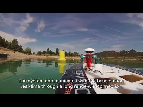 The USV SEASURVEYOR is a multi-tasking surface vehicle, used to monitor the quality of water as well as the seabed.