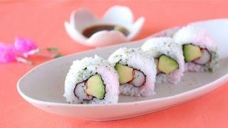 How to Make California Roll for Hinamatsuri (Sushi Recipe) ひな祭り カリフォルニアロールの作り方