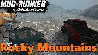 SpinTires Mud Runner: NEW Rocky Mountains Map! Full Exploration