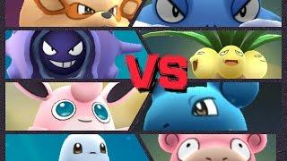 Wigglytuff  - (Pokémon) - Pokémon GO Gym Battle Level 9 Gym Poliwrath Wigglytuff Exeggutor Lapras Snorlax Slowbro & more