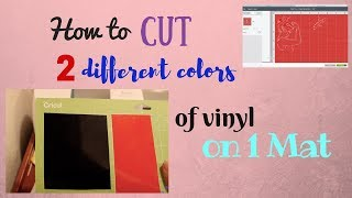 How to cut 2 different colors of vinyl on 1 mat | Cricut Design Space Beginner