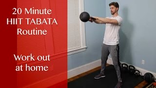 HIIT Tabata Kettlebell Workout by Regular Dude Fitness