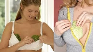 Вставляем лист капусты в бюстгальтер на 20 минут. Причина вас точно удивит!