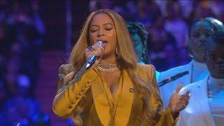 Beyonce sings at Kobe & Gia Bryant memorial: full video