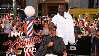 Shaq & Guillermo Give Summer Haircuts to Pedestrians