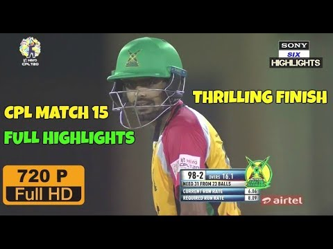 CPL T20 2017- Match 15 - Guyana Amazon Warriors vs Jamaica Tallawahs Full Highlights 720 HD
