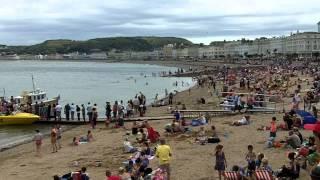 Beach and Promenade, Llandudno, North Wales.