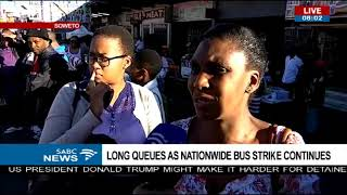 Commuters frustrated as bus strike continues