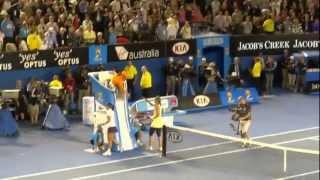 全豪オープン2013女子シングルス決勝マッチポイント