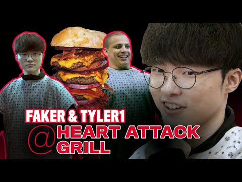 T1 Faker 和 Tyler1參觀心臟病餐館
