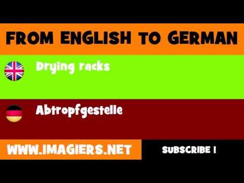 DEUTSCH   ENGLISCH  = Abtropfgestelle