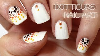 Brown, Yellow, Orange And Gold Dotticure Nail Art (Collab With Sharing My Mojo)