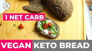 The Ultimate Vegan Keto Bread Recipe [1 NET CARB]
