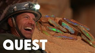 The Rookies Find Valuable Opal In A Dangerous Abandoned Mine | Outback Opal Hunters
