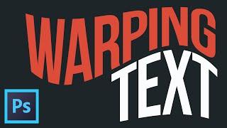 Warping Text in Adobe Photoshop (Graphic Design Tutorials)