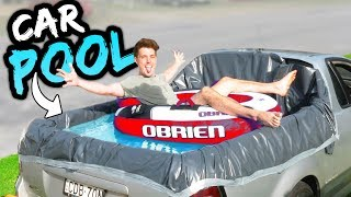 TURNING MY CAR INTO A POOL!