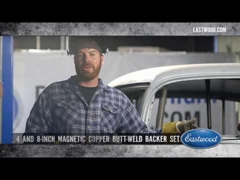 Eastwood 2 inch X 8 inch Magnetic Copper Butt Welding Backer Flat Copper Panels